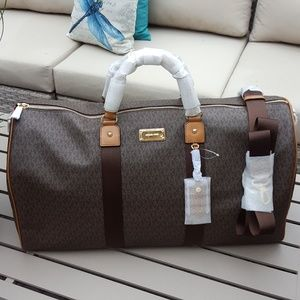 NWT Michael Kors travel duffle bag brown carry-on